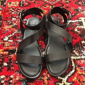 Franco sarto black sandals size 8.5